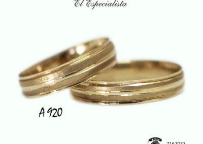 Argollas de Matrimonio A 920