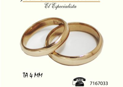 Argollas TA4 MM.