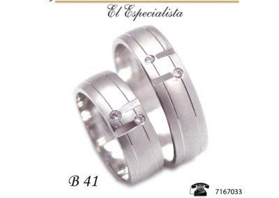 Argollas de matrimonio B41